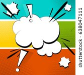 blank cloud retro style comic... | Shutterstock .eps vector #638047111