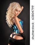 beautiful girl in lingerie | Shutterstock . vector #63804799