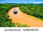 jungle river top view panoramic ...   Shutterstock . vector #638048335