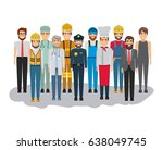 white background with big group ... | Shutterstock .eps vector #638049745