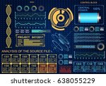 futuristic blue virtual graphic ... | Shutterstock .eps vector #638055229
