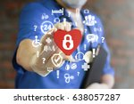 security health care concept.... | Shutterstock . vector #638057287