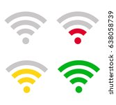 wi fi signal strength icons.... | Shutterstock .eps vector #638058739