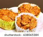 fresh homemade muffins with... | Shutterstock . vector #638065384