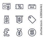 Price Icons Set. Set Of 9 Pric...