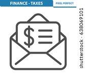finance   taxes icon.... | Shutterstock .eps vector #638069101