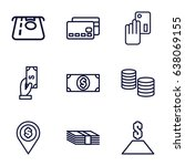 payment icons set. set of 9... | Shutterstock .eps vector #638069155