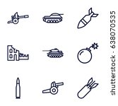 conflict icons set. set of 9... | Shutterstock .eps vector #638070535
