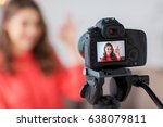 blogging  technology  videoblog ... | Shutterstock . vector #638079811