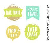 fair trade hand drawn badges.... | Shutterstock .eps vector #638083105