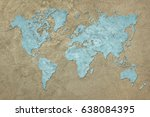 grunge map of the world.... | Shutterstock . vector #638084395