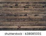 wall of old wooden plank boards.... | Shutterstock . vector #638085331