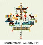 vector set of various canada... | Shutterstock .eps vector #638087644