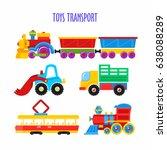 set of vector children's toys.... | Shutterstock .eps vector #638088289