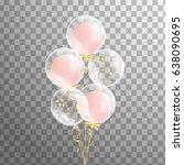 bunch of transparent balloon on ...   Shutterstock .eps vector #638090695