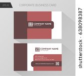 corporate business card... | Shutterstock .eps vector #638098387