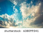 dramatic sky with clouds and... | Shutterstock . vector #638099341