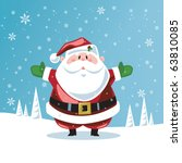 santa claus with open arms | Shutterstock .eps vector #63810085