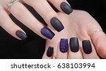 design of manicure matt black... | Shutterstock . vector #638103994