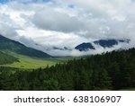 scenic valley in bhutan | Shutterstock . vector #638106907