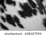 closeup on a skin of live cow.... | Shutterstock . vector #638107594