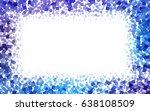 light pink  blue vector pattern.... | Shutterstock .eps vector #638108509