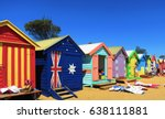 brighton beach melbourne multi... | Shutterstock . vector #638111881