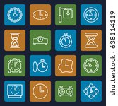 second icons set. set of 16... | Shutterstock .eps vector #638114119