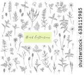 vector hand drawn collection of ... | Shutterstock .eps vector #638115985