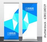 roll up business brochure flyer ... | Shutterstock .eps vector #638118019