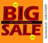 big sale banner. vector... | Shutterstock .eps vector #638125009