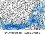 polygon background. abstract... | Shutterstock . vector #638129059