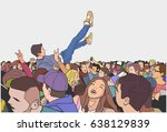 illustration of festival party... | Shutterstock .eps vector #638129839