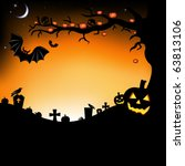 halloween illustration with... | Shutterstock . vector #63813106