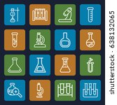 lab icons set. set of 16 lab... | Shutterstock .eps vector #638132065