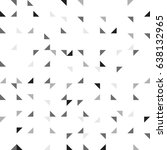 rotate triangle in square grid. ... | Shutterstock .eps vector #638132965