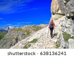 Mountain Trail And Climber...