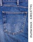 denim blue jean pocket texture... | Shutterstock . vector #638137741