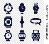 strap icons set. set of 9 strap ... | Shutterstock .eps vector #638138041