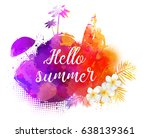 abstract painted splash shape... | Shutterstock .eps vector #638139361