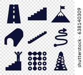 way icons set. set of 9 way...   Shutterstock .eps vector #638140309
