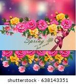 trendy realistic vector... | Shutterstock .eps vector #638143351