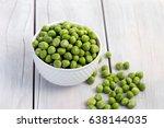 Fresh Green Peas In A Bowl