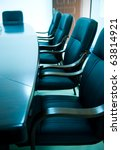 blue tone of empty boardroom or ... | Shutterstock . vector #63814921