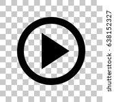 play vector icon | Shutterstock .eps vector #638152327
