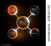 serum and vitamin background... | Shutterstock .eps vector #638161141