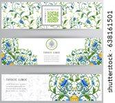 set of vector banners. fantasy... | Shutterstock .eps vector #638161501