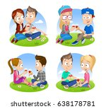 vector collection of young... | Shutterstock .eps vector #638178781