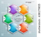 vector abstract 3d paper... | Shutterstock .eps vector #638179855