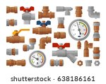 sanitary engineering  plumbing... | Shutterstock .eps vector #638186161